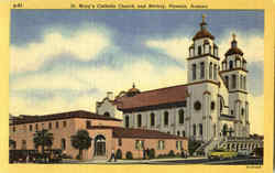 St. Mary's Catholic Church And Rectory Postcard