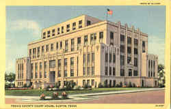 Travis County Court House Postcard