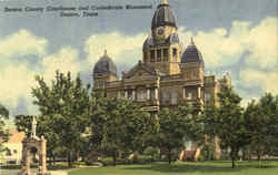 Denton County Courthouse And Confederate Monument