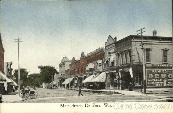 Main Street View De Pere Wisconsin
