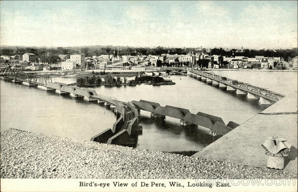 Bird's-eye View of DePere, Wis., Looking East De Pere Wisconsin