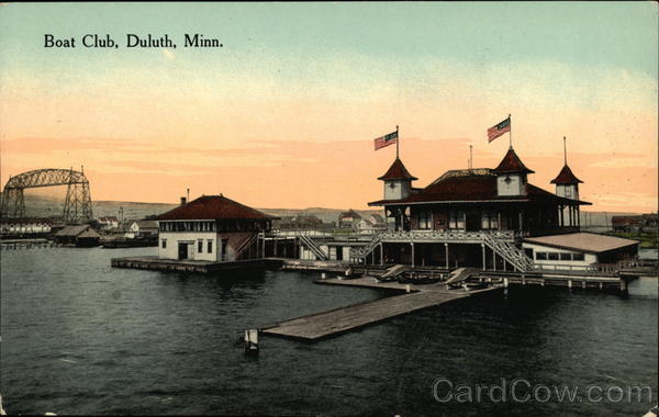 Water View of Boat Club Duluth Minnesota