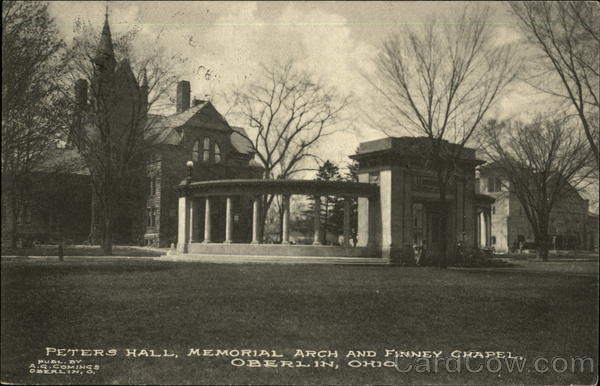 Peters Hall, Memorial Arch and Finney Chapel Oberlin Ohio