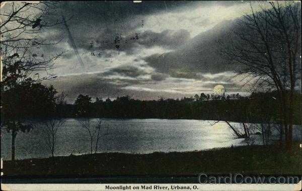 Moonlight on Mad River Urbana Ohio