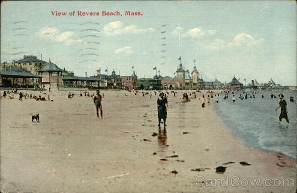 People on the Beach Revere Beach Massachusetts