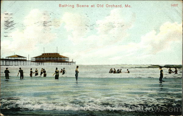 Bathing Scene at Old Orchard, Me Old Orchard Beach Maine