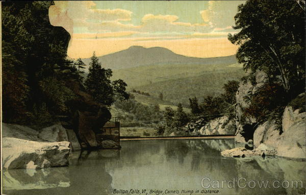 Bridge with Camel Humps in Distance, Bolton Falls Waterbury Vermont