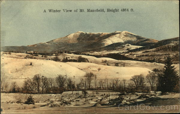 A Winter View of Mt. Mansfield, Height 4364 ft Vermont