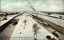 General View of Government Canal and Lock Pumped Empty in Winter