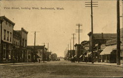 First Street, Looking West Postcard