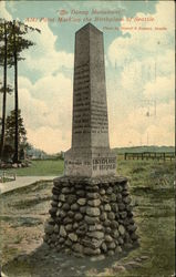 """The Denny Monument"" - Alki Point Marking the Birthplace of Seattle"