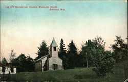 The Old Protestant Church, Madeline Island Postcard