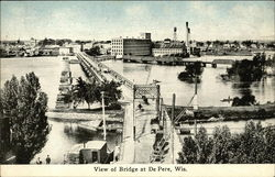 View of Bridge at De Pere, Wis