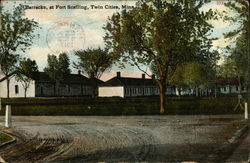 Barracks at Fort Snelling Postcard