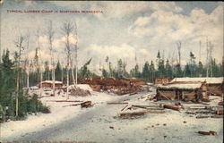 Typical Lumber Camp in Northern Minnesota