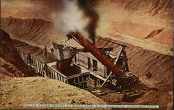 Steam Shovel at Work Open in Pit Iron Mine Northern Minn