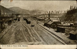 N.P. Yards at Trout Creek, Montana