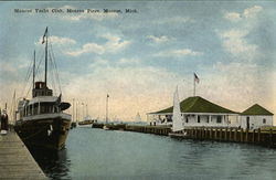 Monroe Yacht Club and Piers Postcard