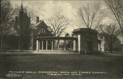 Peters Hall, Memorial Arch and Finney Chapel Postcard