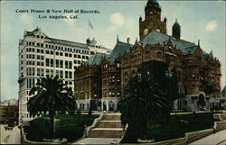Court House & New Hall of Records Postcard