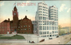 Court House and Hall of Records Postcard