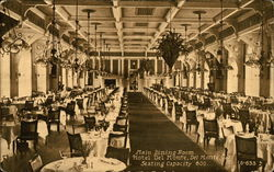 Main Dining Room, Hotel del Monte, seating capacity 600