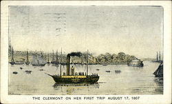 The Clermont on Her First Trip, August 17, 1807