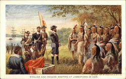 English and Indians Meeting at Jamestown in 1607
