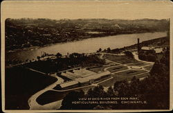 View of Ohio River from Eden Park, Horticultural Buildings