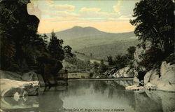 Bridge, Camels Hump in Distance, Bolton Falls