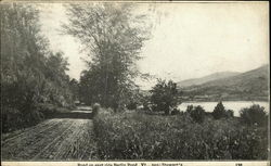 Road on East Side of Berlin Pond Vt., Near Stewart's