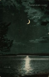 Moonlight on Lake Champlain Postcard