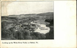 Looking up the White River Valley at Bethel, Vt