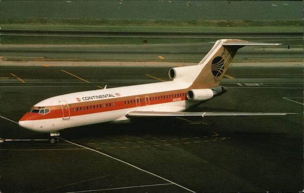 Continental Airlines Boeing 727-22 Aircraft