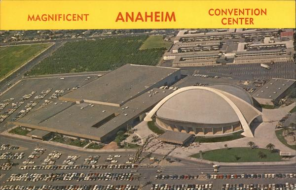 Aerial View Of Anaheim Convention Center California