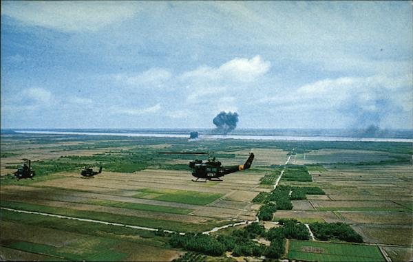 Army Helicopters in Action South Vietnam Southeast Asia