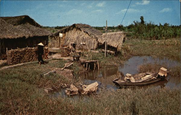 Native Home in Mekong Delta Lowlands Vietnam Southeast Asia