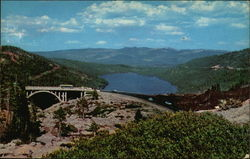 Donner Memorial Bridge and Donner Lake, California
