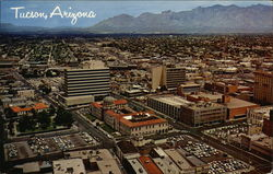 Downtown Tucson Showing Santa Catalina Mountains in the Northern Background