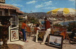 Colorful View of Artists at Work on the Patio of Victor Hugos
