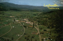 Aerial of Laytonville, California