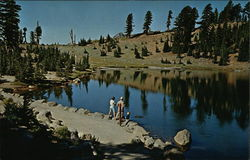 Feeding the Trout in Emerald Lake in Lassen Volcanic National Park, Calif