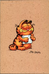 Garfield Holds a Letter