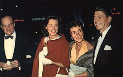 Ronald Reagan, Edgar Bergen and Their Wives Arrive at the Glamourous Hollywood Premiere