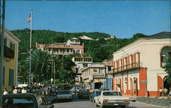 Post Office Square in Charlotte Amalie Postcard