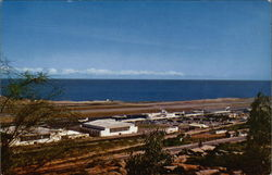 International Airport of Maiquertia on shores of Caribbean Postcard