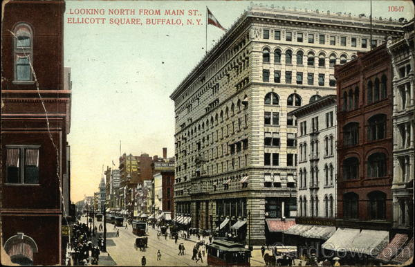 Looking North from Main Street, Ellicott Square Buffalo New York