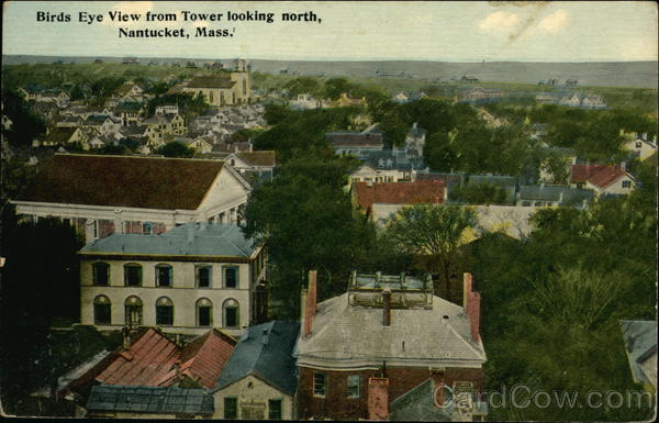 Birds Eye View from Tower Looking North Nantucket Massachusetts