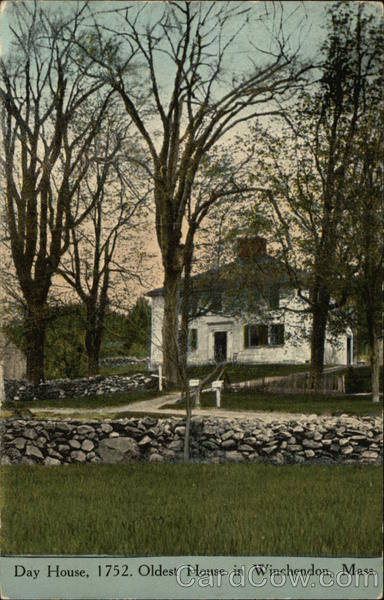 Day House, 1752. Oldest House in Winchendon Massachusetts