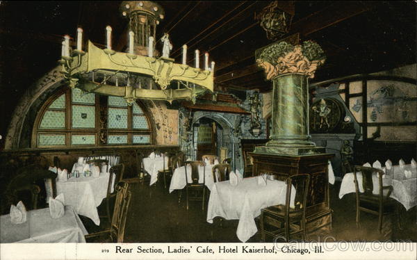 Rear Section, Ladies' Cafe, Hotel Kaiserhof Chicago Illinois